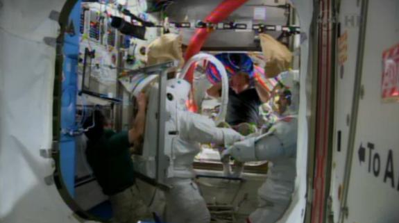 Astronaut May Spacewalk in Weightless Wonderland to Fix Space Station