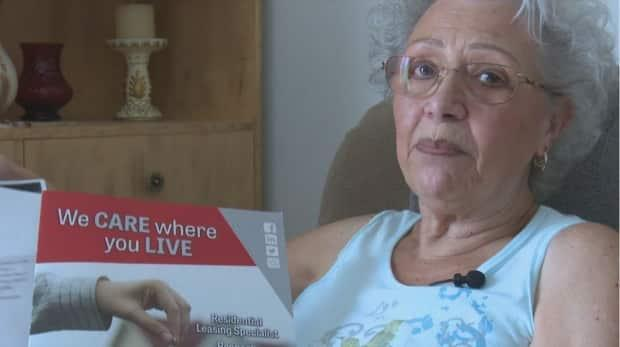 Marie Roy planned to live in her Bathurst apartment for the rest of her life, but with her rent set to nearly double from $580 per month to $1,150 she isn't sure what she will do and has added her name to the N.B. Housing waitlist. (Radio-Canada - image credit)