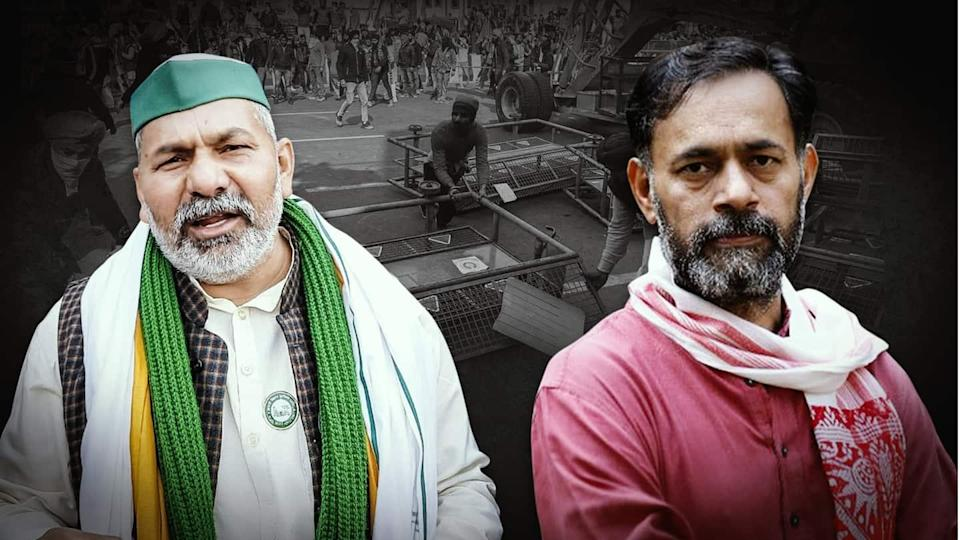 R-Day violence: Rakesh Tikait and Yogendra Yadav named in FIRs