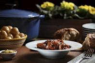 """<p>This satisfying Polish stew requires a couple of hours of cooking to bring out the flavors, but we promise it's worth the wait. Though there is a traditional way of cooking this stew, you can easily make substitutions to your liking, such as replacing the ham with smoked turkey or chicken.</p> <p><a href=""""https://www.thedailymeal.com/recipes/polish-pork-cabbage-stew-bigos?referrer=yahoo&category=beauty_food&include_utm=1&utm_medium=referral&utm_source=yahoo&utm_campaign=feed"""" rel=""""nofollow noopener"""" target=""""_blank"""" data-ylk=""""slk:For the Smoky Pork Stew With Cabbage and Sauerkraut recipe, click here."""" class=""""link rapid-noclick-resp"""">For the Smoky Pork Stew With Cabbage and Sauerkraut recipe, click here.</a></p>"""