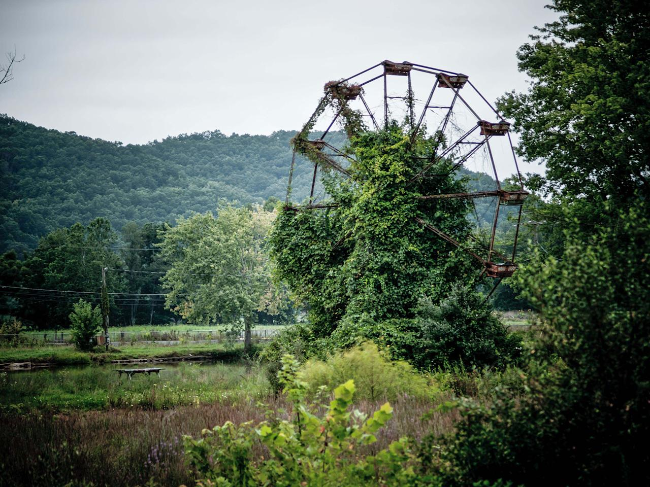 <p>Abandoned overgrown amusement park in West Virginia. (Photo:Johnny Joo/Caters News) </p>