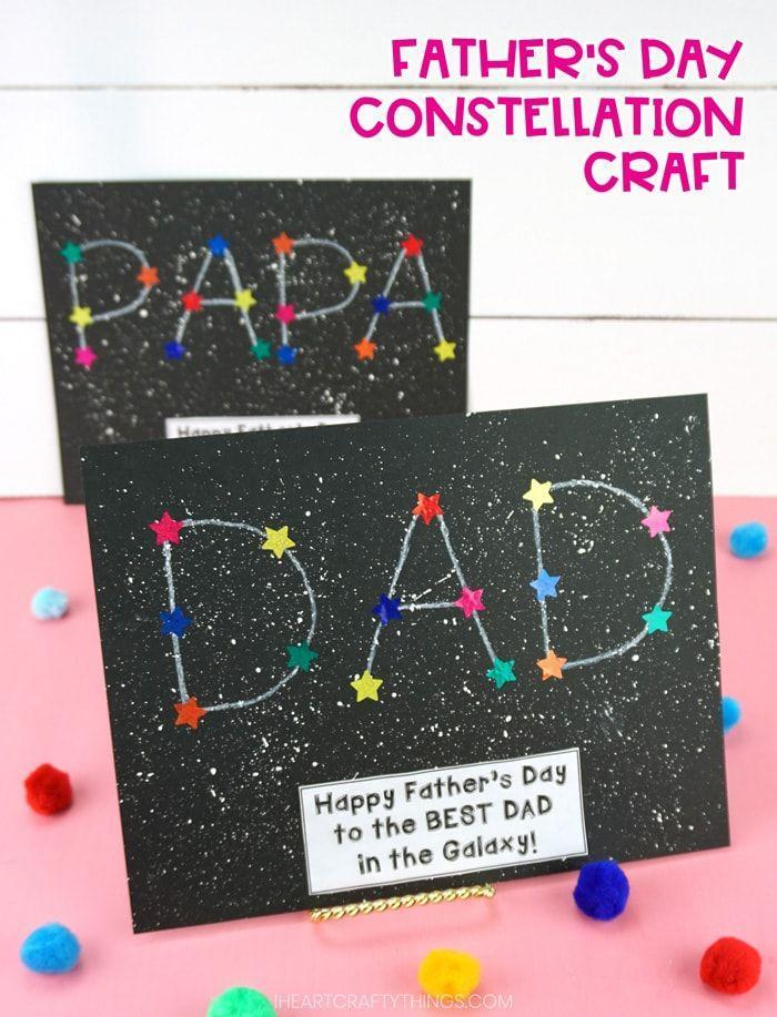 """<p>Play into the fact that your dad is really out of this world by making a card inspired by a star-filled sky. </p><p><a href=""""https://iheartcraftythings.com/fathers-day-constellation-craft.html"""" rel=""""nofollow noopener"""" target=""""_blank"""" data-ylk=""""slk:Get the tutorial at I Heart Crafty Things »"""" class=""""link rapid-noclick-resp""""><em>Get the tutorial at I Heart Crafty Things »</em></a></p>"""