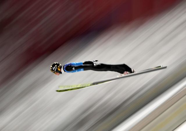 Ski Jumping - Pyeongchang 2018 Winter Olympics - Men's Team Trial round - Alpensia Ski Jumping Centre - Pyeongchang, South Korea - February 19, 2018 - Andreas Wellinger of Germany competes. REUTERS/Carlos Barria TPX IMAGES OF THE DAY