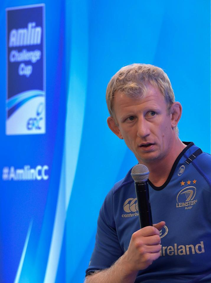 Leinster's Leo Cullen during the Irish Heineken Cup Launch at Sky Ireland, Dublin.