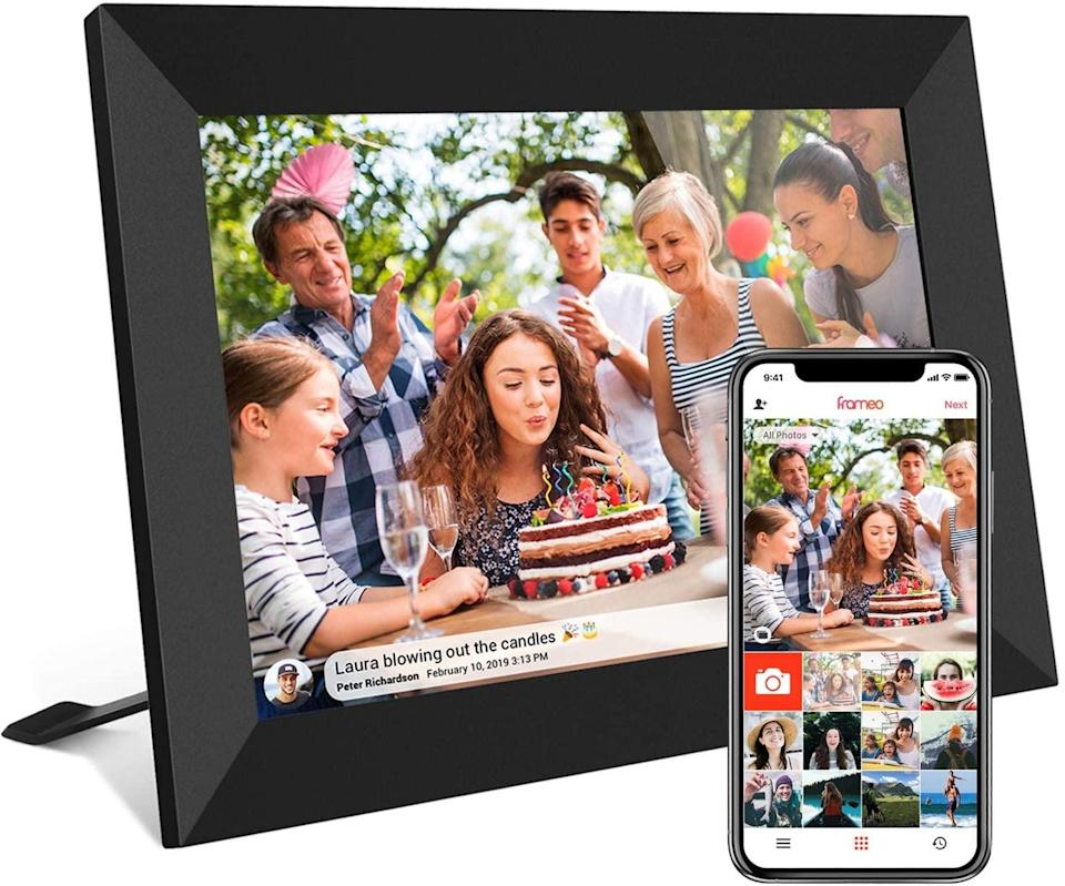 <p>With this <span>Akimart Smart WiFi Digital Photo Frame with Touch Screen</span> ($109), they can see all their photos and memories in an easy, compact way.</p>