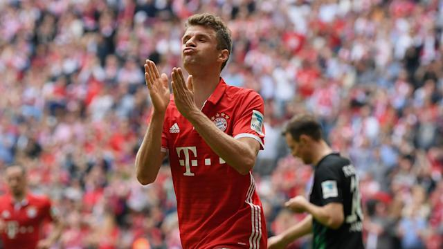 Bayern Munich attacker Thomas Muller has urged the Bavarians have to keep on pushing in their bid for a treble.
