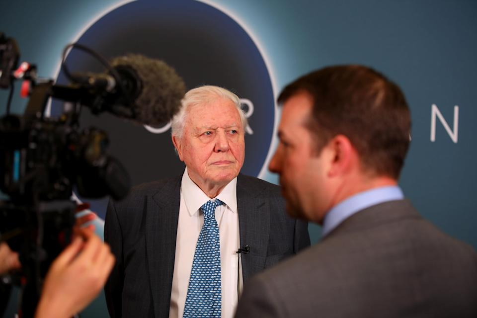 WASHINGTON, DC – APRIL 10: Sir David Attenborough attends the 'Our Planet' Special Screening With Sir David Attenborough at the Smithsonian National Museum Of American History on April 10, 2019 in Washington, DC. (Photo by Tasos Katopodis/Getty Images for Netflix)