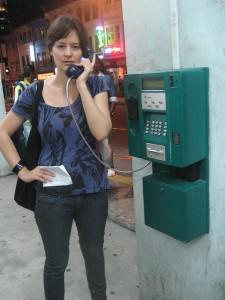 Foriegner on the phone