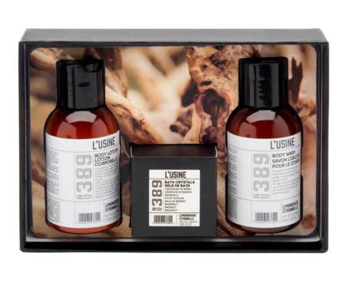 """<p>Indulge in a luxurious bath set for those nights alone. <a rel=""""nofollow"""" href=""""http://www.superdrug.com/Gifts-for-Her/Gifts-For-Her/L'Usine-Lemongrass-3-Piece-Bath-&-Body-Gift-Set/p/712233""""><i>Superdrug, £4</i></a> </p>"""