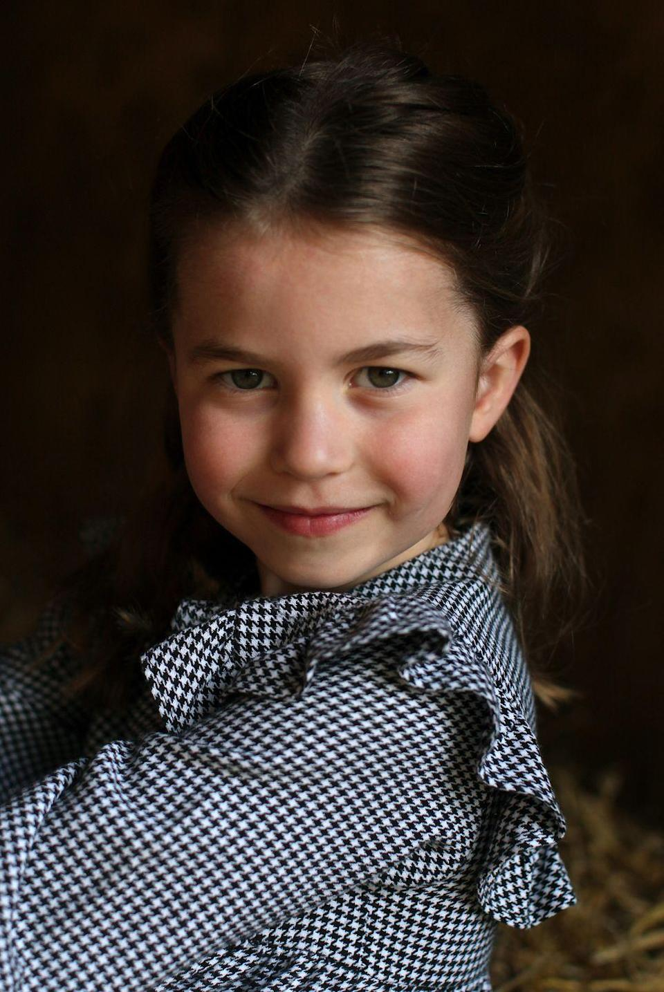 """<p>Captured by her mother, Charlotte wore an adorable gingham dress for a portrait released for her fifth birthday and we can't decide <a href=""""https://www.elle.com/uk/life-and-culture/culture/a32359889/princess-charlotte-birthday-photos/"""" rel=""""nofollow noopener"""" target=""""_blank"""" data-ylk=""""slk:which royal she resembles most."""" class=""""link rapid-noclick-resp"""">which royal she resembles most.</a></p>"""