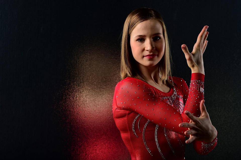 <p>Madison Kocian, known for her performance on the uneven bars, earned her first gold medal at the 2015 world championships. (Getty) </p>