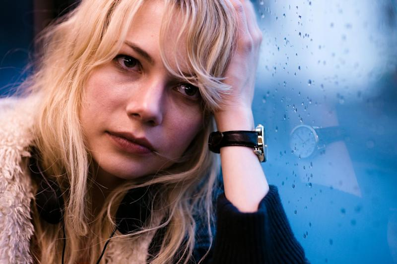 """FILE - In this publicity file photo released by The Weinstein Company, Michelle Williams is shown in a scene from, """"Blue Valentine."""" (AP Photo/The Weinstein Company, Davi Russo, File)"""