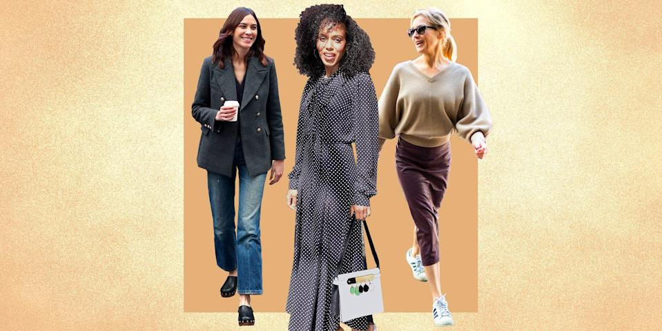 """<p>Of the many things to love about fall—the crisp weather, that feeling of renewal and romance in the air, the foliage—there is also the excitement of refreshing our wardrobes. <a href=""""https://www.townandcountrymag.com/style/fashion-trends/a36741538/frank-and-eileen-eileen-linen-button-down-review/"""" rel=""""nofollow noopener"""" target=""""_blank"""" data-ylk=""""slk:Linens"""" class=""""link rapid-noclick-resp"""">Linens</a> give way to <a href=""""https://www.townandcountrymag.com/style/fashion-trends/a36440663/white-and-warren-cashmere-travel-wrap-review/"""" rel=""""nofollow noopener"""" target=""""_blank"""" data-ylk=""""slk:cashmere"""" class=""""link rapid-noclick-resp"""">cashmere</a>, summer whites are replaced with <a href=""""https://www.townandcountrymag.com/style/fashion-trends/g22549283/stylish-fall-coats/"""" rel=""""nofollow noopener"""" target=""""_blank"""" data-ylk=""""slk:lush jewel tones"""" class=""""link rapid-noclick-resp"""">lush jewel tones</a>, minimalist sandals are stowed in favor of <a href=""""https://www.townandcountrymag.com/style/fashion-trends/a31978402/how-stubbs-and-wootton-made-tuxedo-slippers-hip/"""" rel=""""nofollow noopener"""" target=""""_blank"""" data-ylk=""""slk:embroidered velvet slippers"""" class=""""link rapid-noclick-resp"""">embroidered velvet slippers</a>, and sun-kissed shoulders are swaddled in <a href=""""https://www.townandcountrymag.com/style/fashion-trends/g28589058/best-fall-scarves/"""" rel=""""nofollow noopener"""" target=""""_blank"""" data-ylk=""""slk:sumptuous scarves"""" class=""""link rapid-noclick-resp"""">sumptuous scarves</a>. And even if you have long ago mastered the perfect fall uniform, the changing of seasons is always a worthy excuse for a little shopping. Below, <em>T&C</em> looks to six singularly stylish women to inspire six effortlessly chic outfits for autumn. </p>"""