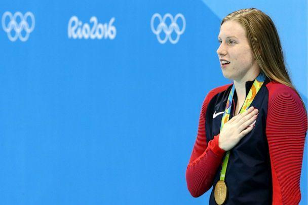 PHOTO: Gold medalist Lillia King of the USA at an award ceremony for the women's 100m breaststroke event at the 2016 Summer Olympic Games in Rio de Janeiro. (Stanislav Krasilnikov/TASS via Getty Images, FILE)