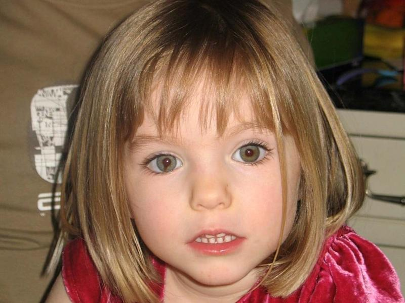 Undated handout photograph of three-year-old Madeleine McCann who disappeared in Praia da Luz, Portugal, on 3 May 2007: Family handout/Metropolitan Police/AFP via Getty