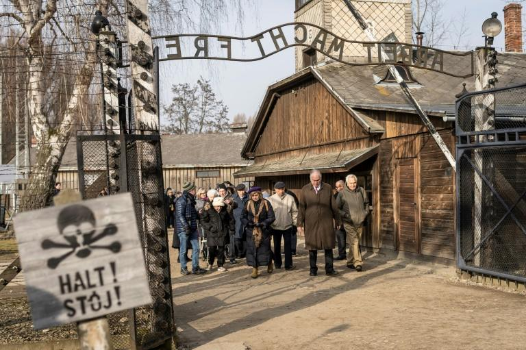 The head of the World Jewish Congress Ronald Lauder and Holocaust survivors attended a memorial service at Auschwitz-Birkenau