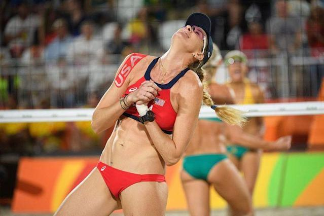 USA's Kerri Walsh Jennings LEON NEAL/AFP/Getty Images