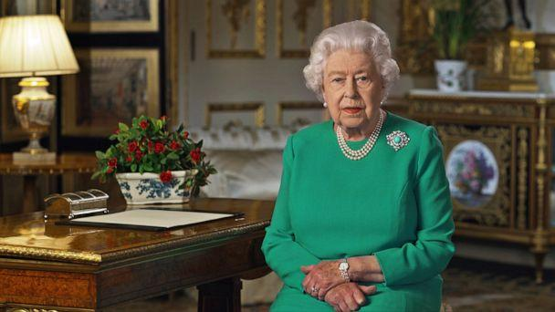 PHOTO: Queen Elizabeth II addresses the nation and the Commonwealth from Windsor Castle, Windsor, England, April 5, 2020. (Buckingham Palace via AP)