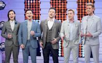 <p>The musical theatre boy band stormed to victory in 2014, after competing against opera singer Lucy Kay and singing/rap duo Bars and Melody.</p><p>Shortly after winning the show, the boys – Michael Auger, Richard Hadfield, Jamie Lambert, Matthew Pagan and Thomas J Redgrave – signed with Syco.</p><p>The group's debut album, Stars, featured selections from musical theatre, film and cover versions of pop songs, and went straight to number one.</p><p>They followed it up with the release of their second album, Act Two, which almost replicated their former success, charting at number two. </p><p>The boys have been touring the UK throughout 2016.</p><p><i>Picture Credit: Ken McKay/ITV/REX/Shutterstock</i></p>