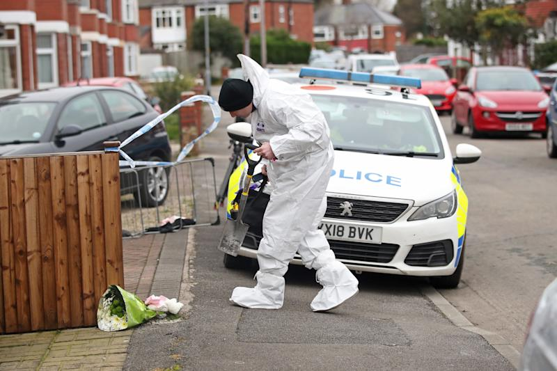 Forensics officers at the scene of a fire at a house on Wensley Avenue, Hull, where two people have died, including an eight-year-old. PA Photo. Picture date: Saturday January 25, 2020. Emergency services were called to the house at around 7.50am on Saturday morning. A man was pronounced dead at the scene, while an eight-year-old girl died in hospital. See PA story FIRE Hull. Photo credit should read: Danny Lawson/PA Wire