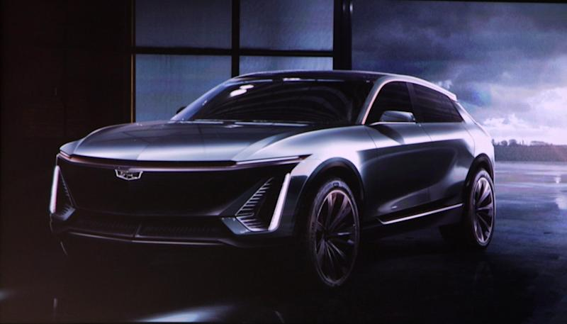 Cadillac unveiled the brand's first electric vehicle on Sunday.