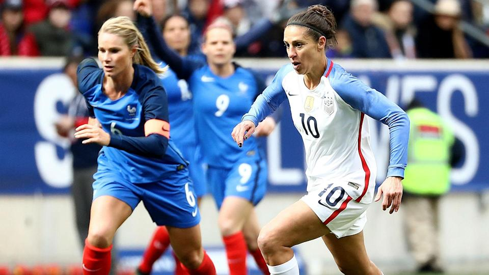 Carli Lloyd isn't as influential as she once was, but she's still a key component of the U.S. women's national team. (Sporting News)