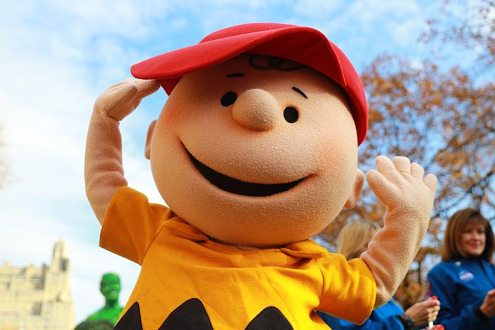 Good grief! The Charlie Brown during the 93rd Macy's Thanksgiving Day Parade in New York, Nov. 28, 2019. (Photo: Gordon Donovan/Yahoo News)