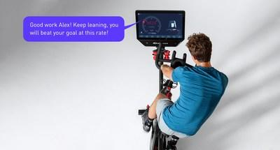 Vi-powered guided coaching interacts with your movements in real time, adapting to your personal goals and abilities to make workouts fun and highly motivating. (PRNewsfoto/Vi Labs)
