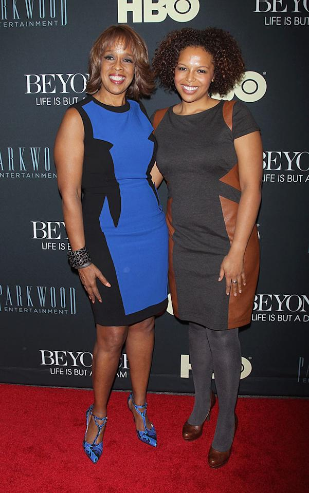 """Gayle King and daughter attend the """"Beyonce: Life Is But A Dream"""" New York Premiere at Ziegfeld Theater on February 12, 2013 in New York City."""