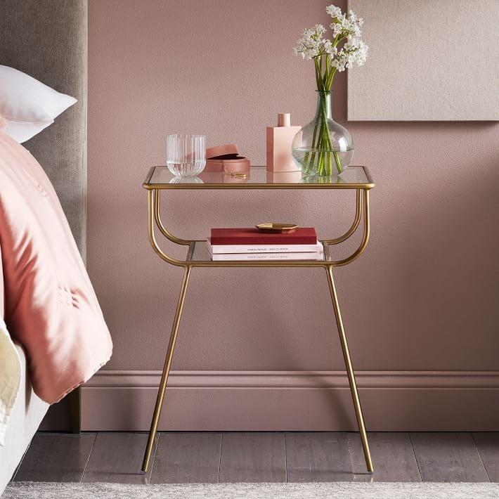 <p>This <span>Curved Terrace Nightstand</span> ($199) will make an elegant addition to your bedroom.</p>