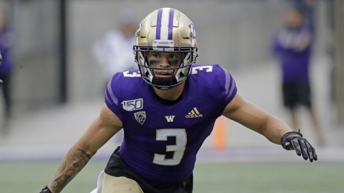 Washington DB Elijah Molden is the leader of a talented secondary. (AP Photo/Ted S. Warren)