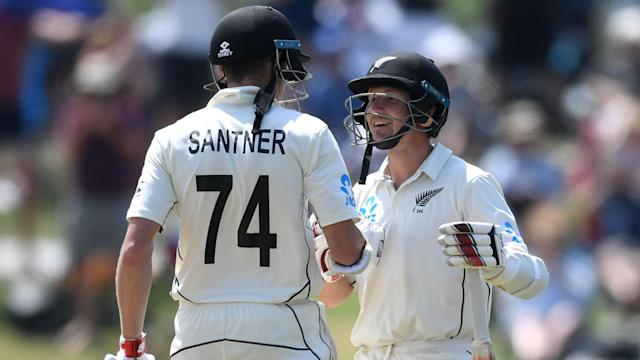 New Zealand duo BJ Watling and Mitchell Santner showed England how to bat big in the first Test, leaving the tourists in trouble.