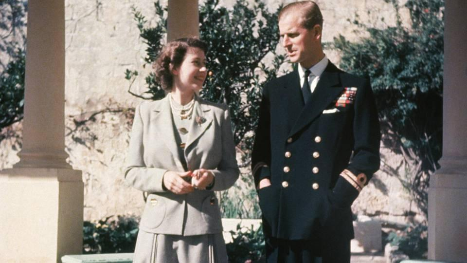 Queen Elizabeth und Prinz Philip in Malta 1947.