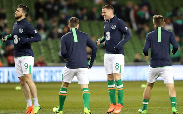 <span>Koeman accused Martin O'Neill of failing to protect midfielder James McCarthy</span> <span>Credit: Rex </span>