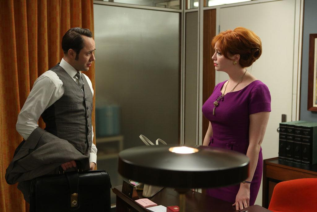 "Pete Campbell (Vincent Kartheiser) and Joan Harris (Christina Hendricks) in the ""Mad Men"" episode, ""The Better Half."""