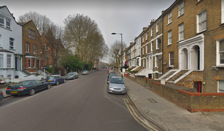 The newborn was found on the Sandringham Road in Hackney by a member of the public. (Google Maps)