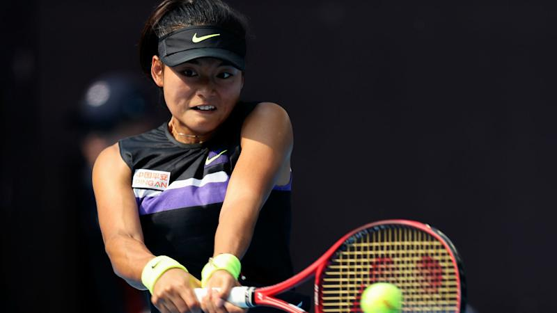 Garcia's Tianjin Open title defence halted