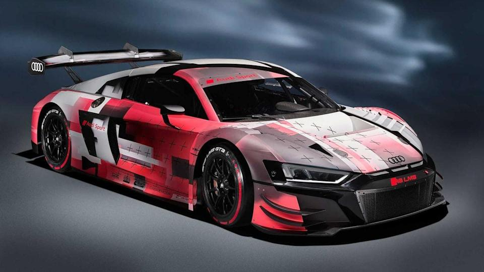 Audi R8 LMS GT3 evo II, with 585hp engine, unveiled