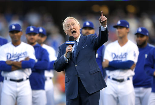 Hall of Fame broadcaster Vin Scully hospitalized after falling at home