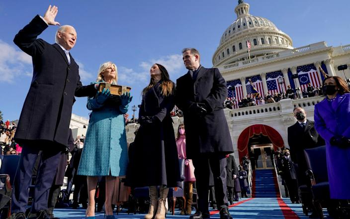 Joe Biden is sworn in as the 46th president of the United States - AP