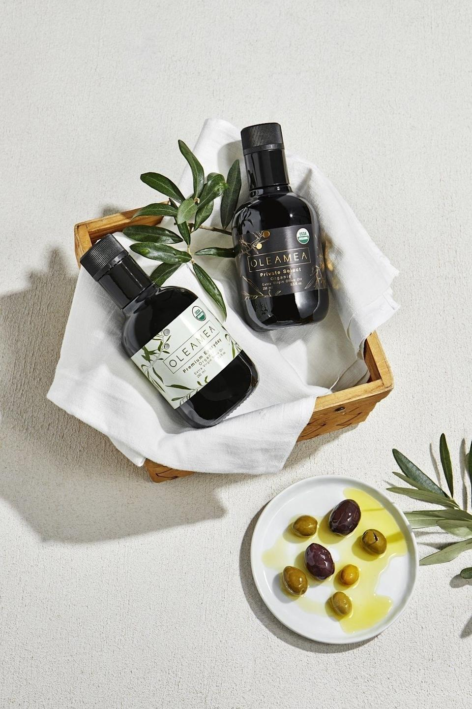 """An everyday basic you can use for cooking and baking, as well as for dipping and finishing. The better your ingredients, the better your results.<br /><br /><strong>Promising review:</strong>""""This olive oil is wonderful. I have used it every day since it arrived on tomatoes and mozzarella, Roasted Broccoli rabe. salads and more. I will be buying more."""" — 1624<br /><br /><strong>Get the two-pack from Oleamea for<a href=""""https://go.skimresources.com?id=38395X987171&xs=1&url=https%3A%2F%2Fwww.oleamea.com%2Fcollections%2Fshop-all%2Fproducts%2Fgift-pack&xcust=HPIncompleteKitchen60882f69e4b0b9042d8addee"""" target=""""_blank"""" rel=""""noopener noreferrer"""">$20.99</a>or from Amazon for<a href=""""https://www.amazon.com/dp/B088MM9CRY?tag=huffpost-bfsyndication-20&ascsubtag=5883859%2C14%2C54%2Cd%2C0%2C0%2C0%2C962%3A1%3B901%3A2%3B900%3A2%3B974%3A3%3B975%3A2%3B982%3A2%2C16473637%2C0"""" target=""""_blank"""" rel=""""noopener noreferrer"""">$20.99</a>(bottles can also be bought individually on both sites).</strong>"""