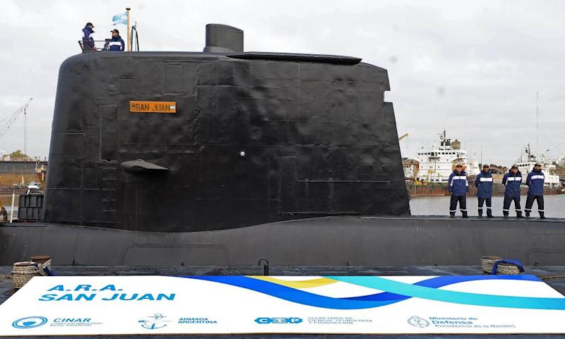 The San Juan submarine on 23 May 2014.