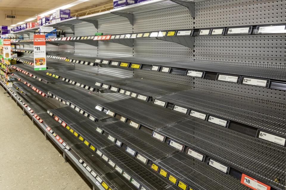 empty woolworths shelves bee population statement