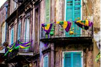"<p>Vivid shades of green, purple, and gold are displayed throughout any Mardi Gras celebration. They're said to have originated in 1872 by the New Orleans Krewe of Rex and were later made official <a href=""https://www.bustle.com/articles/140663-what-do-each-of-the-mardi-gras-colors-mean-heres-why-you-see-so-much-green"" rel=""nofollow noopener"" target=""_blank"" data-ylk=""slk:during a parade called &quot;The Symbolism of Colors.&quot;"" class=""link rapid-noclick-resp"">during a parade called ""The Symbolism of Colors.""</a> Green is said to stand for faith, purple means justice, and gold represents power.</p>"