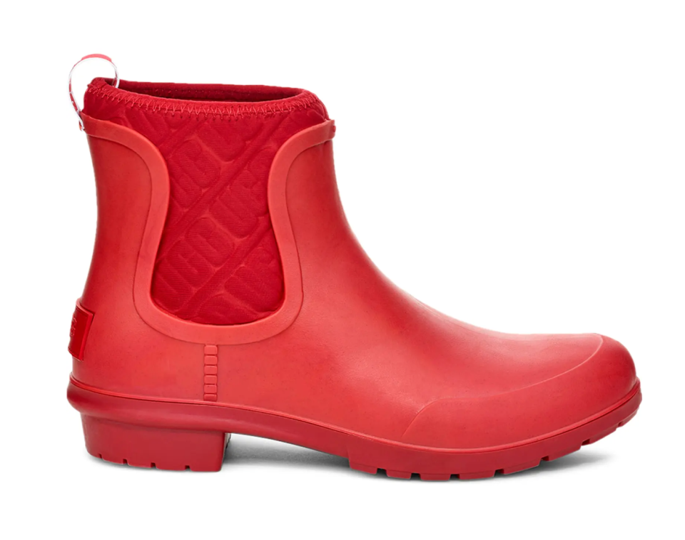 UGG Chevonne Chelsea Waterproof Rain Boot in Red (Photo via Nordstrom)