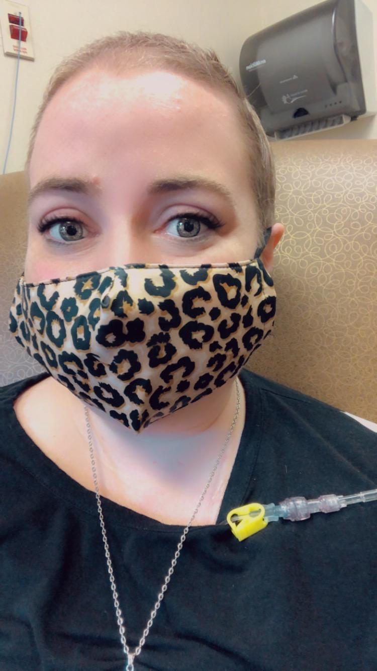 """Patient advocate Tori Geib says, """"At first, I didn't understand the gravity of metastatic breast cancer, because I hadn't ever heard of metastatic breast cancer."""" Now she's trying to make sure others are aware. (Courtesy Tori Geib)"""