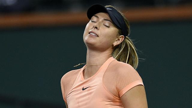 A left forearm injury has led to Maria Sharapova withdrawing from the Miami Open.