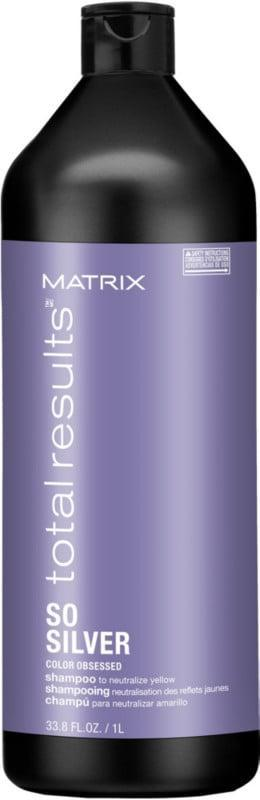 <p>The <span>Matrix Total Results So Silver Shampoo For Blonde and Silver Hair</span> ($31) clarifies blond hair and eliminates dullness. The formula works to brighten highlights and boost overall shine.</p>