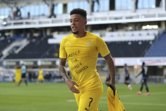 Jadon Sancho was pictured breaking lockdown rules in Germany by having a haircut. (Lars Baron/PA)
