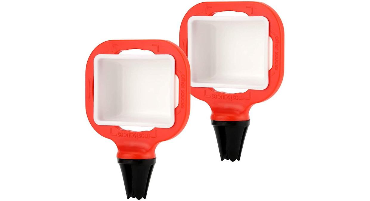LUTER 2pcs Dip Clip in-car Sauce Cup Holder